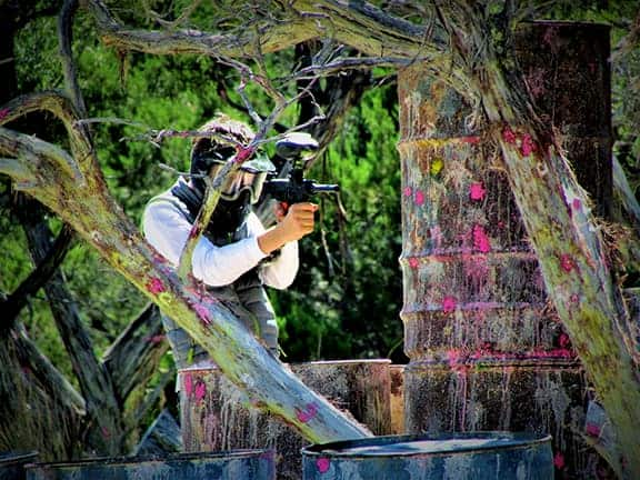 paintball player at Austin Paintball
